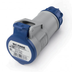 Acople scame xenia ip44 2p+t 16a 6h