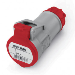 Acople scame ip44 3p+n+t 16a 346v 6h