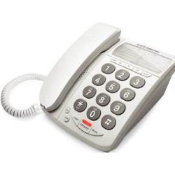 Telefono dti telecom de mesa flash blanco