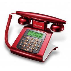 Telefono dti telecom de mesa/rojo