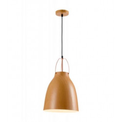 Colgante 180° pacha simil madera 1 luz