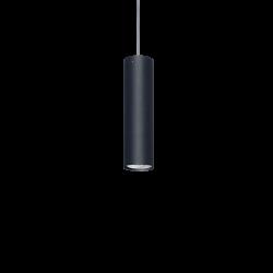 Colgante vignolo tube negro gu10 25cm sin base