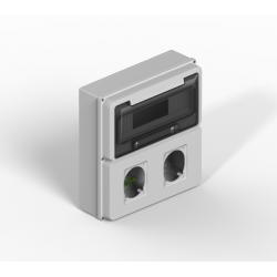 Caja genrod ip65 12p con modulo para tomas