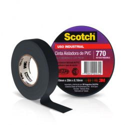 Rollo 3m cinta aisladora 770 10 mts negra
