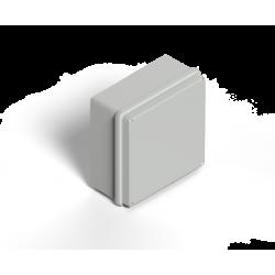 Caja genrod cuadrada con tapa gris sobreponer