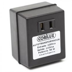 Transformador corilux 220/110vca 100w con 1 toma