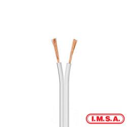 Cable imsa paralelo 2x1.50mm blanco