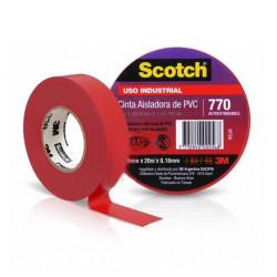 Rollo 3m cinta aisladora 770 20 mts rojo