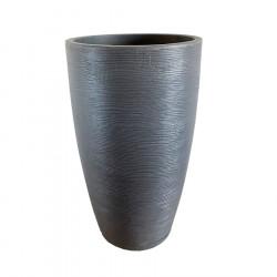 Maceta floridis amsterdam 35x65cm gris grafito