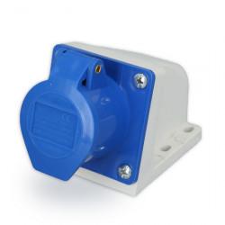 Caja capsulada de superficie para toma industrial 32a azul