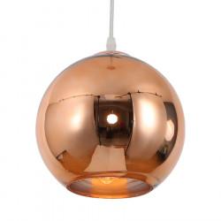 Colgante etheos esferica 20cm cobre