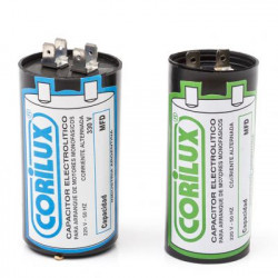 Capacitor monofasico corilux 450v. 45mf