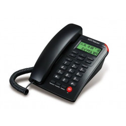 Telefono dti telecom de mesa flash negro (dtp210blk)