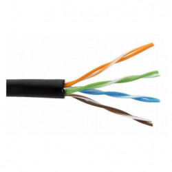 Cable furukawa utp exterior negro cat6e (ethernet)
